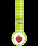 Erdbeer Frische Siegel Etiketten Sweet Fruits 27 x 80 mm