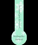 Verschluss-Etiketten Snowflakes 27 x 80 mm mint
