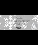 Klebe-Etiketten Snowflakes 80 x 30 mm grau