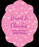 Klebe-Etiketten Tiny Hearts 47 x 60 mm rosa