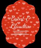 Klebe-Etiketten Tiny Hearts 47 x 60 mm