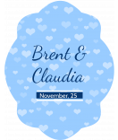 Klebe-Etiketten Tiny Hearts 47 x 60 mm blau
