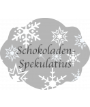 Klebe-Etiketten Snowflakes 60 x 47 mm grau