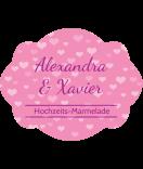 Klebe Etiketten Tiny Hearts 60 x 47 mm rosa