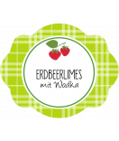 Erdbeer Etiketten oval 60 x 47 mm
