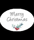 Klebe-Etiketten oval Rustic Christmas 30 x 20 mm chalkboard weiss