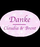 Etiketten oval Snowflakes 30 x 20 mm rosa