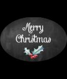 Klebe-Etiketten oval Rustic Christmas 30 x 20 mm chalkboard