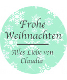 Klebe-Etiketten rund Snowflakes 30 mm mint
