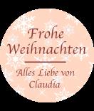 Klebe-Etiketten rund Snowflakes 30 mm lachsrosa