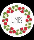 Klebe-Etiketten rund Sweet Fruits 44 mm Erdbeer weiss