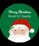 Klebe-Etiketten rund Santa 30 mm grün