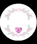 Klebe-Etiketten rund Filigree pink 30 mm