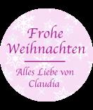 Klebe-Etiketten rund Snowflakes 30 mm rosa