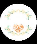 Klebe-Etiketten rund Filigree orange 30 mm 2