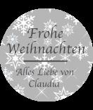 Klebe-Etiketten rund Snowflakes 30 mm grau