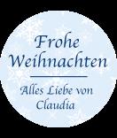 Klebe-Etiketten rund Snowflakes 30 mm blau