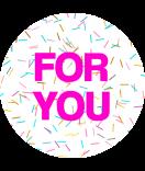 Klebe-Etiketten rund Confetti 30 mm pink