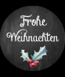Klebe-Etiketten rund Rustic Christmas 30 mm chalkboard