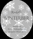 Klebe-Etiketten Snowflakes 67 x 81 mm grau