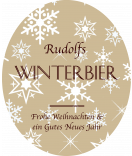 Klebe-Etiketten Snowflakes 67 x 81 mm braun
