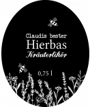 ovale Etiketten Botanical 67 x 81 mm schwarz