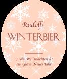 Klebe-Etiketten Snowflakes 67 x 81 mm lachsrosa