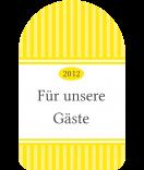 Anhänge-Etiketten Vintage Stripes gelb 40 x 64