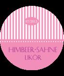 Anhänge-Etiketten rund Candy Stripes 60 mm rosa