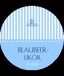 Anhänge-Etiketten rund Candy Stripes 60 mm rund blau