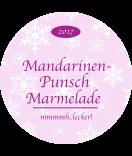 Klebe-Etiketten rund Snowflakes 68 mm rosa