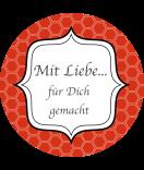 Klebe-Etiketten Frames 68 mm rot