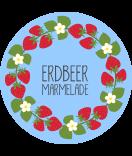 Klebe-Etiketten rund Sweet Fruits 68 mm Erdbeer blau