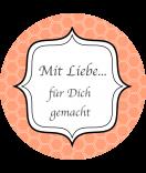 Klebe-Etiketten rund Frames 68 mm peach
