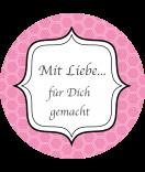Klebe Etiketten rund Frames 68 mm rosa