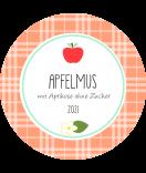Apfeletiketten rund Sweet Fruits 68 mm