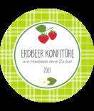 Erdbeer Etiketten rund Sweet Fruits 68 mm