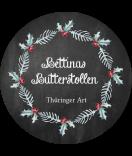 Klebe-Etiketten rund Rustic Christmas 68 mm chalkboard
