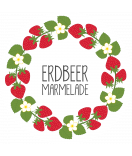 Klebe-Etiketten rund Sweet Fruits 68 mm Erdbeer weiss