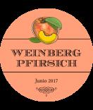 Vintage Etiketten rund Farmers Market 60 mm Pfirsich