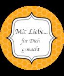 Klebe-Etiketten rund Frames 68 mm orange