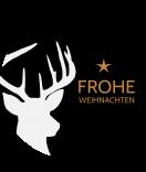 Klebe-Etiketten rund Hello Deer 68 mm