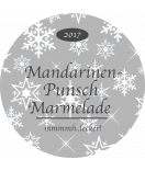 Klebe-Etiketten rund Snowflakes 68 mm grau