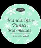 Klebe-Etiketten rund Snowflakes 68 mm mint