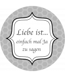 Klebe-Etiketten rund Frame 68 mm grau