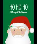Klebe-Etietten Santa 68 x 98 mm grün