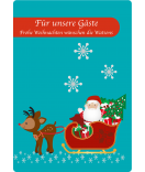 Etiketten Weihnachten Santa 68 x 98 mm