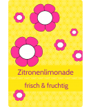 Klebe Etiketten Cherry Blossom 68 x 98 mm gelb
