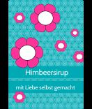 Klebe-Etiketten Cherry Blossom 68 x 98 mm türkis