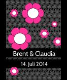 Klebe Etiketten Cherry Blossom 68 x 98 mm schwarz